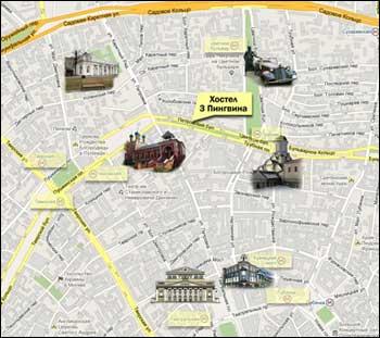 Схема на Петровском бульваре